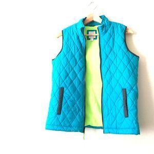CAT & JACK Neon Puffer Vest Kids L